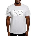 Elephant Illustration Ash Grey T-Shirt