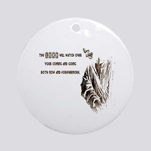 The LORD will Watch Ornament (Round)