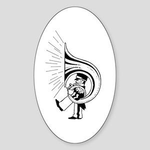 TubaGuy Oval Sticker