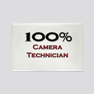 100 Percent Camera Technician Rectangle Magnet