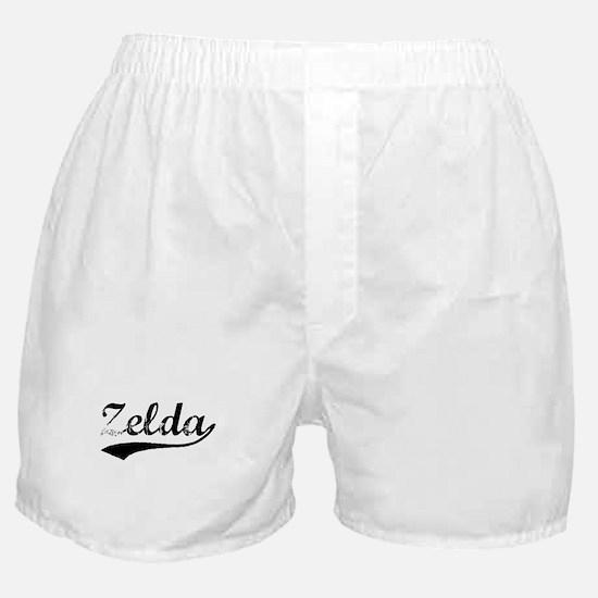 Vintage Zelda (Black) Boxer Shorts