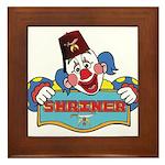 Proud Shriner Clown Framed Tile