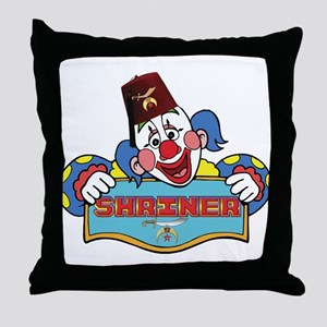 Proud Shriner Clown Throw Pillow