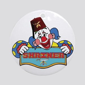 Proud Shriner Clown Ornament (Round)