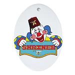 Proud Shriner Clown Oval Ornament