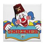 Proud Shriner Clown Tile Coaster