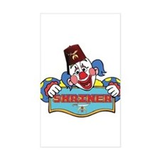 Proud Shriner Clown Rectangle Sticker