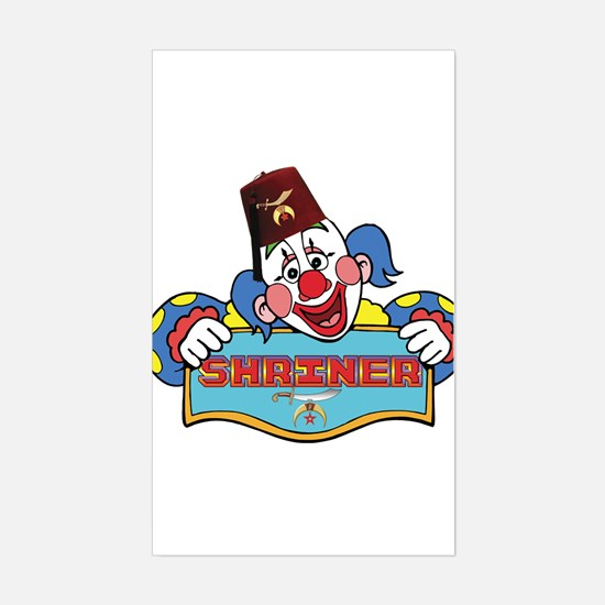 Proud Shriner Clown Rectangle Decal