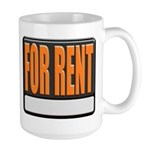For Rent Sign Large Coffee Mug