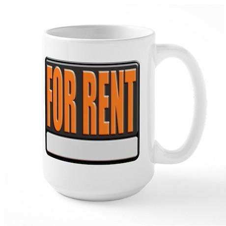 For Rent Sign Large Coffee Mug