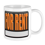 For Rent Sign Coffee Cup