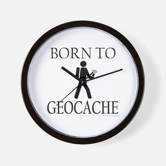 BORN TO GEOCACHE Wall Clock