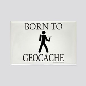 BORN TO GEOCACHE Rectangle Magnet