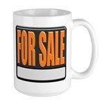 For Sale Sign Large Coffee Cup