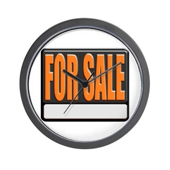 For Sale Sign Wall Clock