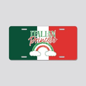 Italian Princess Aluminum License Plate