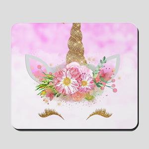 Fantasy Pink Unicorn Mousepad