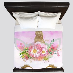 Fantasy Pink Unicorn King Duvet