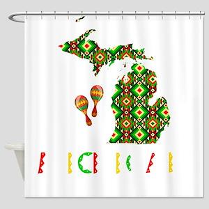 Cinco De Mayo Michigan Shower Curtain