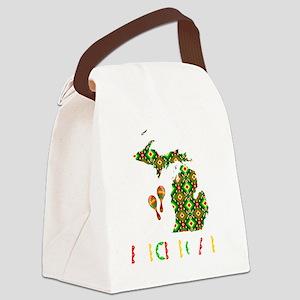 Cinco De Mayo Michigan Canvas Lunch Bag