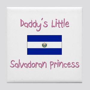 Daddy's little Salvadoran Princess Tile Coaster