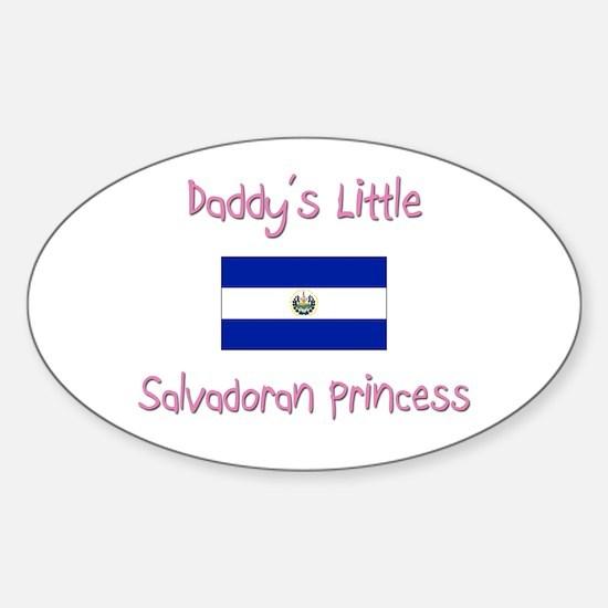 Daddy's little Salvadoran Princess Oval Decal