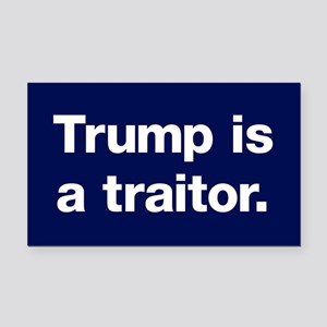 Trump Is A Traitor Rectangle Car Magnet