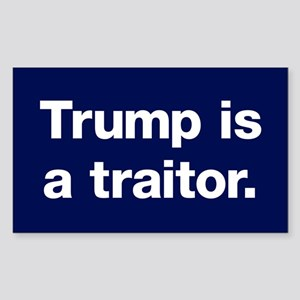 Trump Is A Traitor Sticker (rectangle)