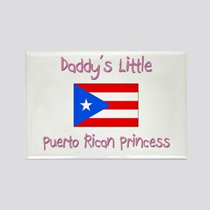 Daddy's little Puerto Rican Princess Rectangle Mag