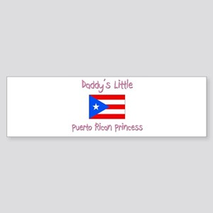 Daddy's little Puerto Rican Princess Sticker (Bump