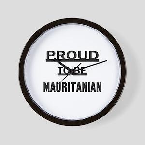 Proud To Be Mauritanian Wall Clock