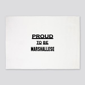 Proud To Be Marshallese 5'x7'Area Rug