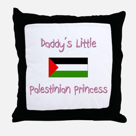 Daddy's little Palestinian Princess Throw Pillow