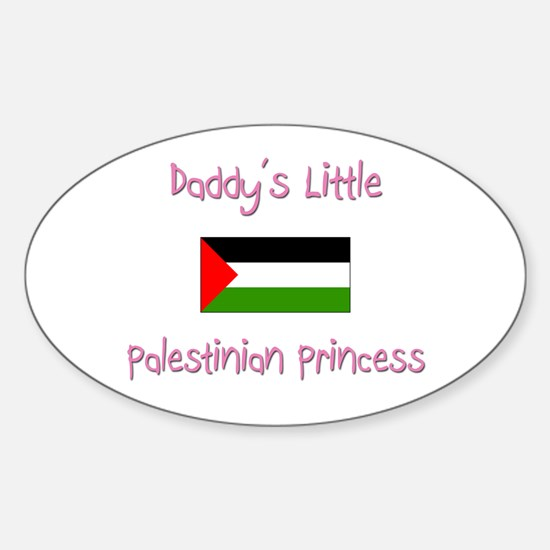 Daddy's little Palestinian Princess Oval Decal