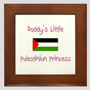Daddy's little Palestinian Princess Framed Tile
