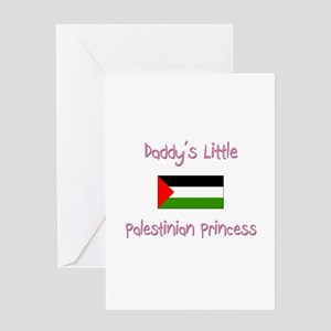 Daddy's little Palestinian Princess Greeting Card