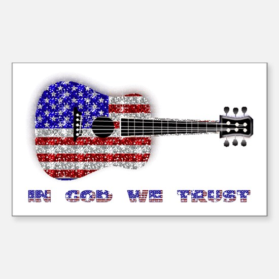 In God We Trust Rectangle Decal