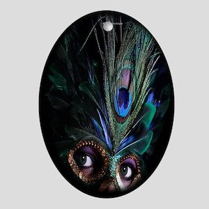 Fantasy Mask Oval Ornament