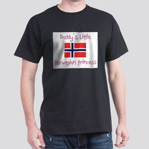 Daddy's little Norwegian Princess Dark T-Shirt