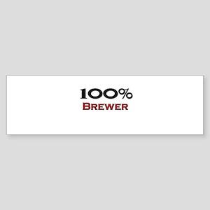 100 Percent Brewer Bumper Sticker