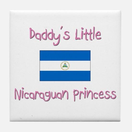 Daddy's little Nicaraguan Princess Tile Coaster
