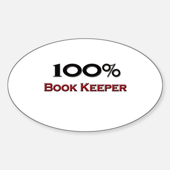 100 Percent Book Keeper Oval Decal