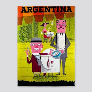 Argentina Vintage Travel Poster 5'x7'area