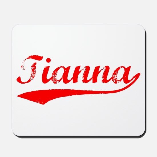 Vintage Tianna (Red) Mousepad