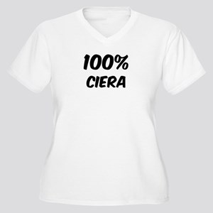 100 Percent Ciera Women's Plus Size V-Neck T-Shirt