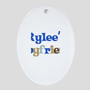 Rylee's Boyfriend Oval Ornament