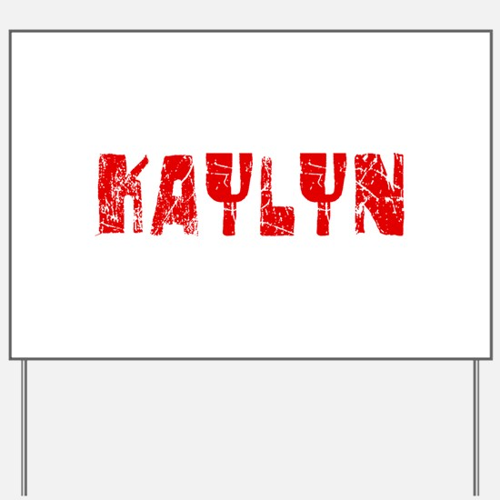 Kaylyn Faded (Red) Yard Sign