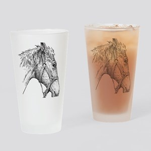 i love horse Drinking Glass