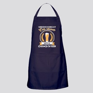 A Chance Of Beer T Shirt Apron (dark)
