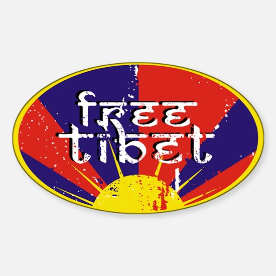 Free Tibet Oval Decal